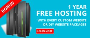 12 months Free Hosting with every website package - banner image